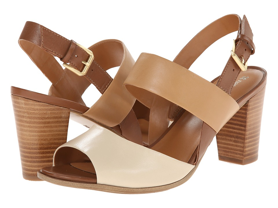 Naturalizer - Dahnny (Pale Ivory/Sand/Saddle Tan Leather) High Heels