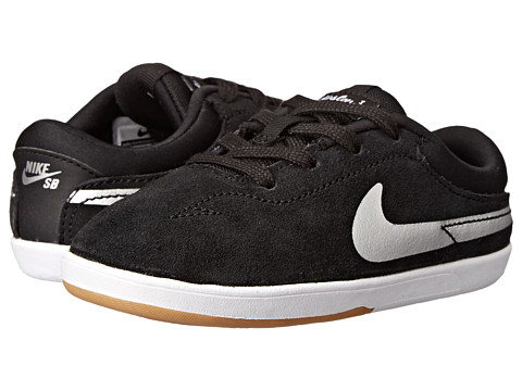 Nike SB Kids - Eric Koston (Infant/Toddler) (Black/White/Gum Light Brown/Metallic Silver) Boy's Shoes