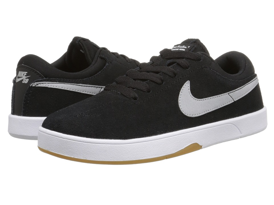 Nike SB Kids - Eric Koston (Big Kid) (Black/White/Metallic Silver) Boys Shoes