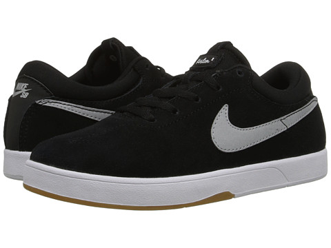 Nike SB Kids - Eric Koston (Little Kid) (Black/White/Gum Light Brown/Metallic Silver) Boys Shoes