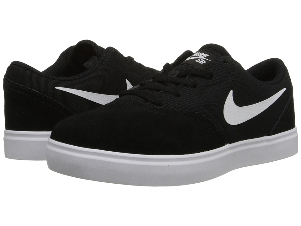 Nike SB Kids - SB Check (Little Kid) (Black/White) Boys Shoes