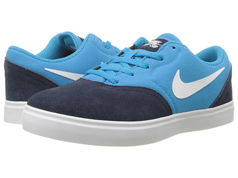 Nike SB Kids - SB Check (Little Kid) (Obsidian/Blue Lagoon/Black/White) Boys Shoes