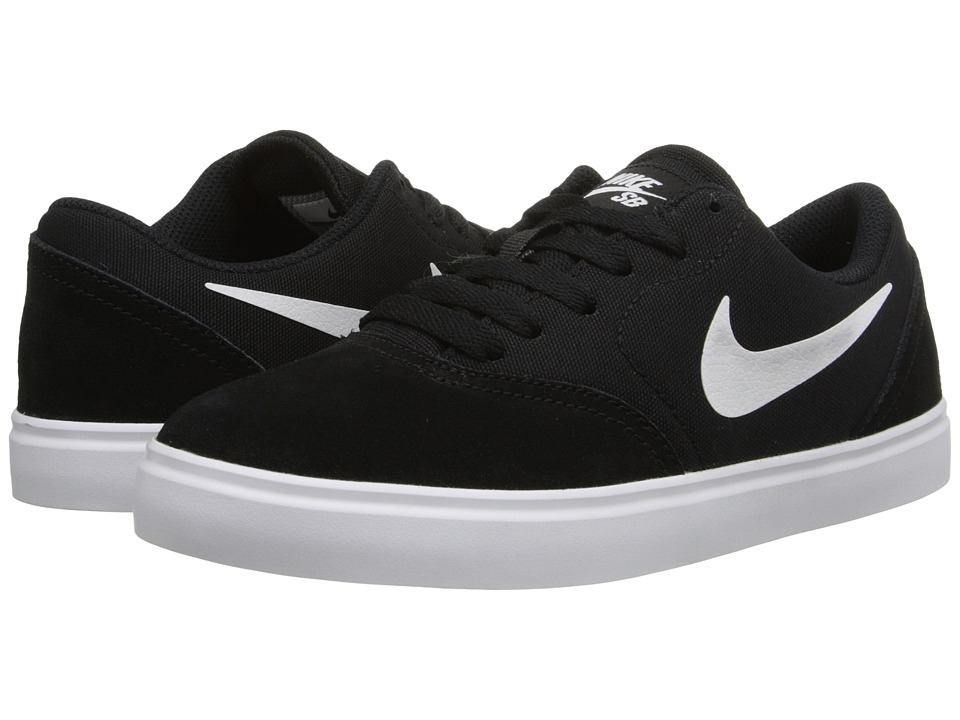 Nike SB Kids - SB Check (Big Kid) (Black/White) Boys Shoes