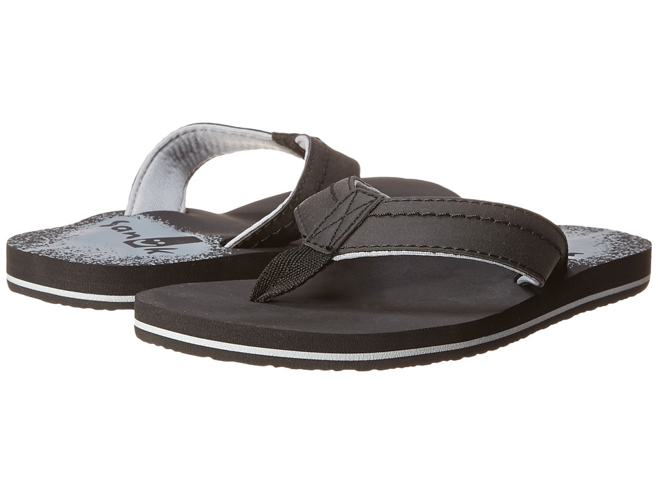 Sanuk Kids - Straight Shot (Little Kid/Big Kid) (Black) Boys Shoes