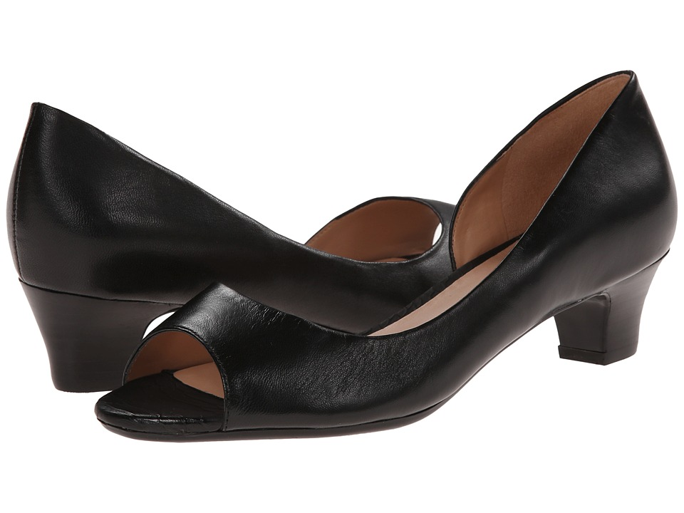 Naturalizer - Debra (Black Leather) Women's 1-2 inch heel Shoes