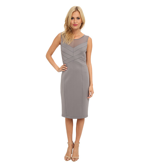 Jessica Simpson - Sleeveless Paneled Bodice Dress with Straight Skirt (Storm Front) Women's Dress