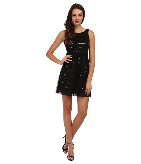 Jessica Simpson - Sleeveless Bodice Dress with Full Skirt (Black) Women