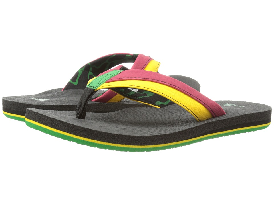 Sanuk Kids - Rootbeer Cozy Light (Little Kid/Big Kid) (Rasta) Boys Shoes