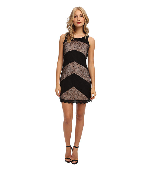 Jessica Simpson - Sleeveless Shift Dress with Tie at Back Neck (Black) Women