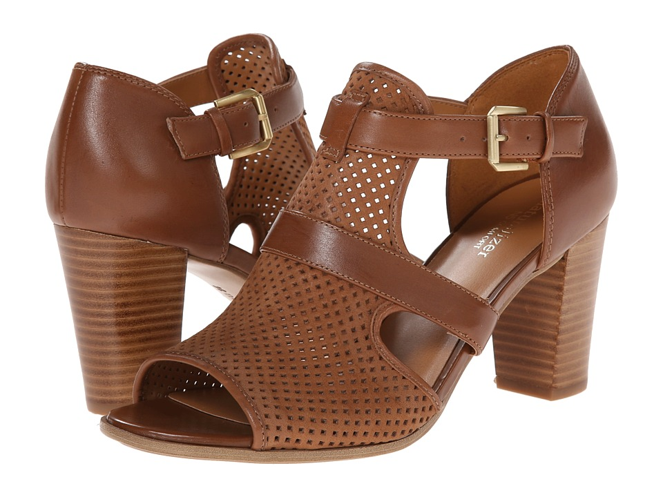 Naturalizer - Draft (Saddle Tan Perfed Nubuck/Leather) High Heels