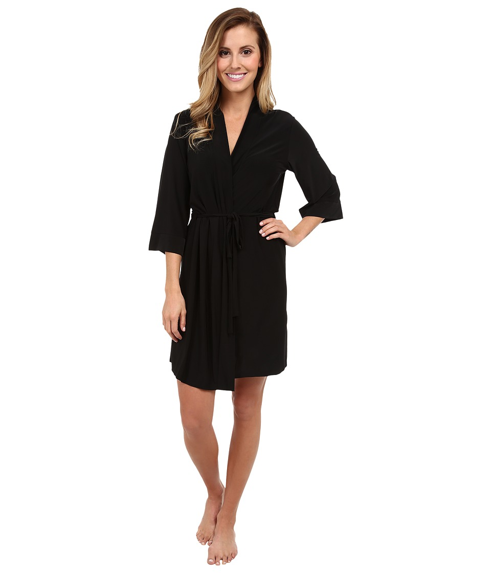 Josie - Addictive Slinky Jersey 30 Robe (Black) Women's Robe