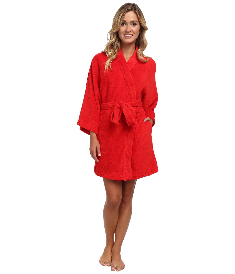 Josie - Josie Coral Fleece Wrap (Red) Women's Robe