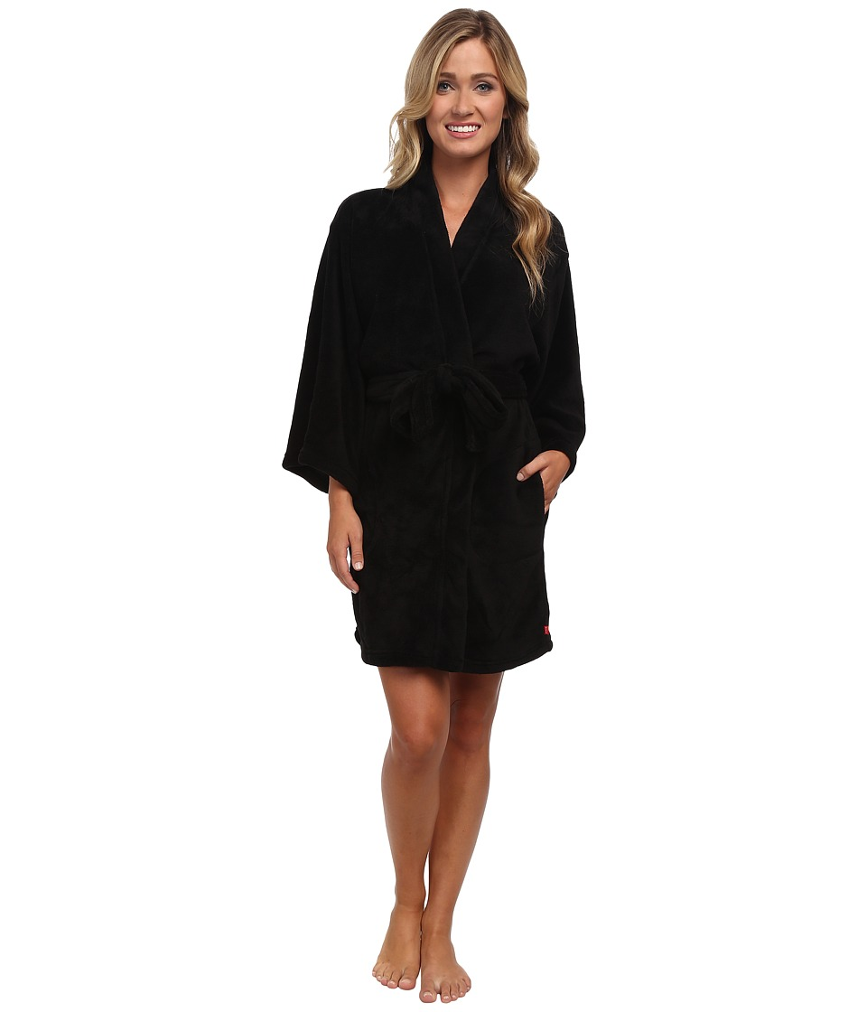 Josie - Josie Coral Fleece Wrap (Black) Women's Robe