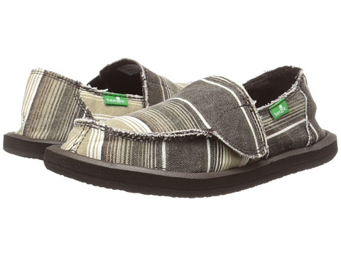 Sanuk Kids - Donny (Toddler/Little Kid) (Brown Poncho Stripes) Boys Shoes