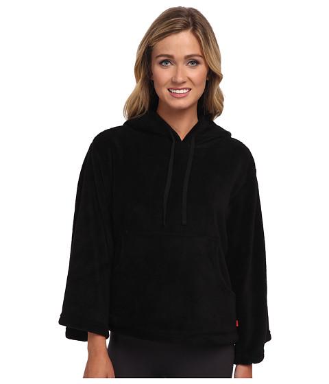 Josie - Josie Coral Fleece Hooded Popover (Black) Women