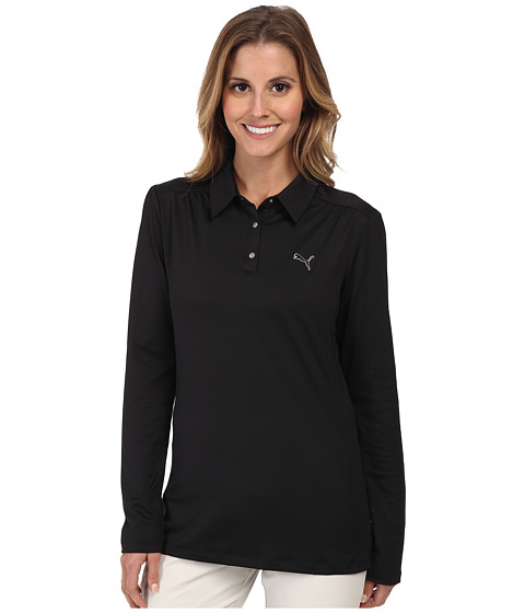 PUMA Golf - Longsleeve Polo '15 (Black) Women's Long Sleeve Pullover