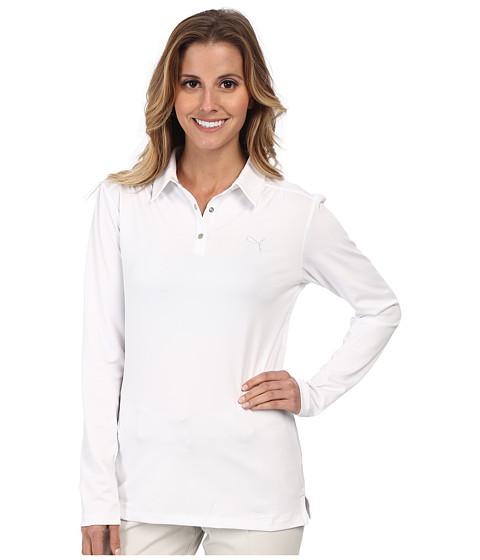 PUMA Golf - Longsleeve Polo '15 (PUMA White) Women's Long Sleeve Pullover