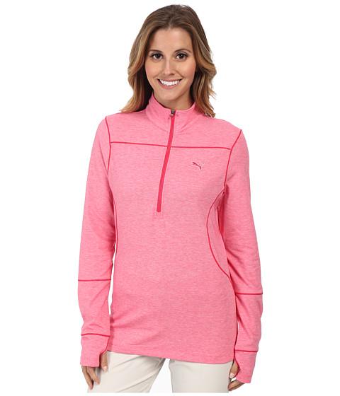 PUMA Golf - 1/2 Zip L/S Top (Raspberry) Women's Long Sleeve Pullover