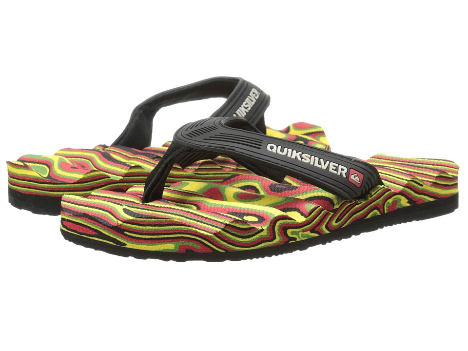 Quiksilver Kids - Massage (Toddler/Little Kid/Big Kid) (Red/Yellow/Green) Boys Shoes