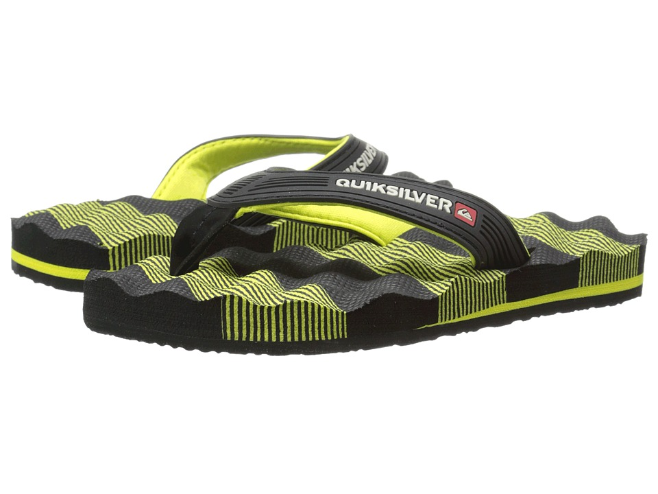 Quiksilver Kids - Massage (Toddler/Little Kid/Big Kid) (Black/Green/Black) Boys Shoes