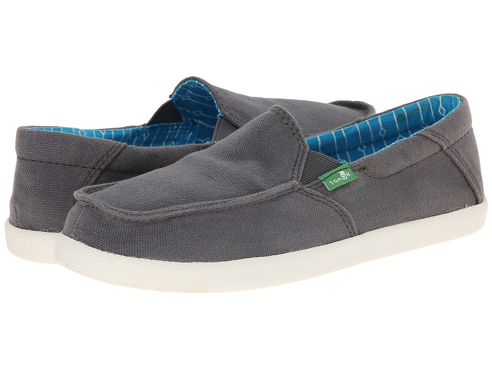 Sanuk Kids - Sideline (Little Kid/Big Kid) (Charcoal) Boys Shoes