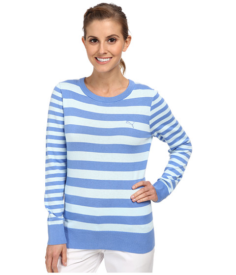 PUMA Golf - Striped Novelty Sweater (Ultramarine/Omphalodes) Women