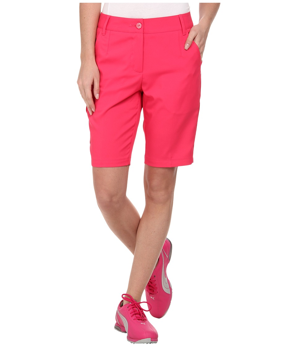 PUMA Golf - Solid Tech Bermuda Golf Short '15 (Raspberry) Women's Shorts plus size,  plus size fashion plus size appare