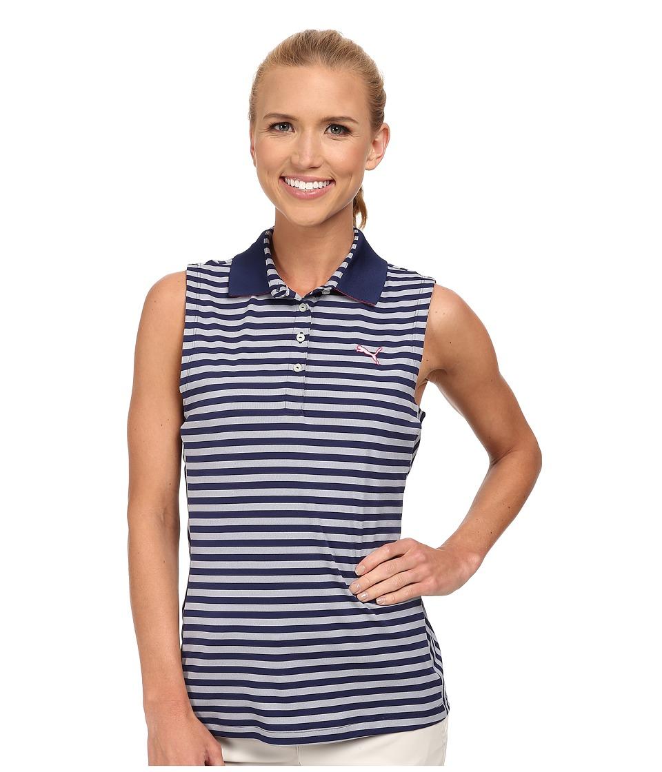 PUMA Golf - Stripe Sleeveless (Black/White) Women's Sleeveless