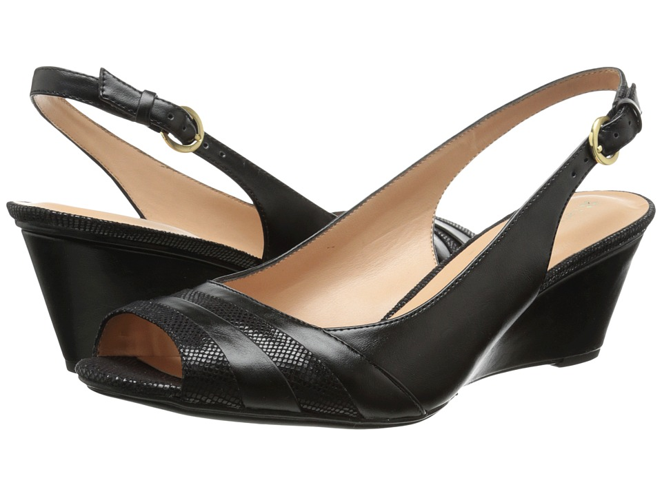 Naturalizer - Hampton (Black Pearlized/Printed Snake) Women