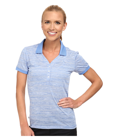PUMA Golf - Multi Stripe Polo (Ultramarine/White) Women