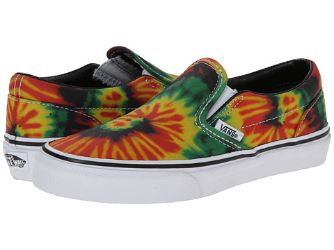 Vans Kids - Classic Slip-On (Little Kid/Big Kid) ((Tie Dye) Rasta/Multi) Kids Shoes