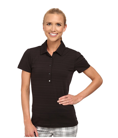 PUMA Golf - Barcode Polo (Black '15) Women's Short Sleeve Knit