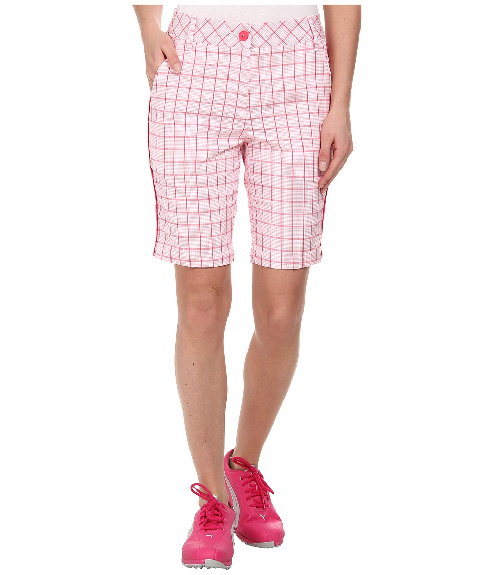 PUMA Golf - Pattern Tech Bermuda (Raspberry Plaid) Women's Shorts