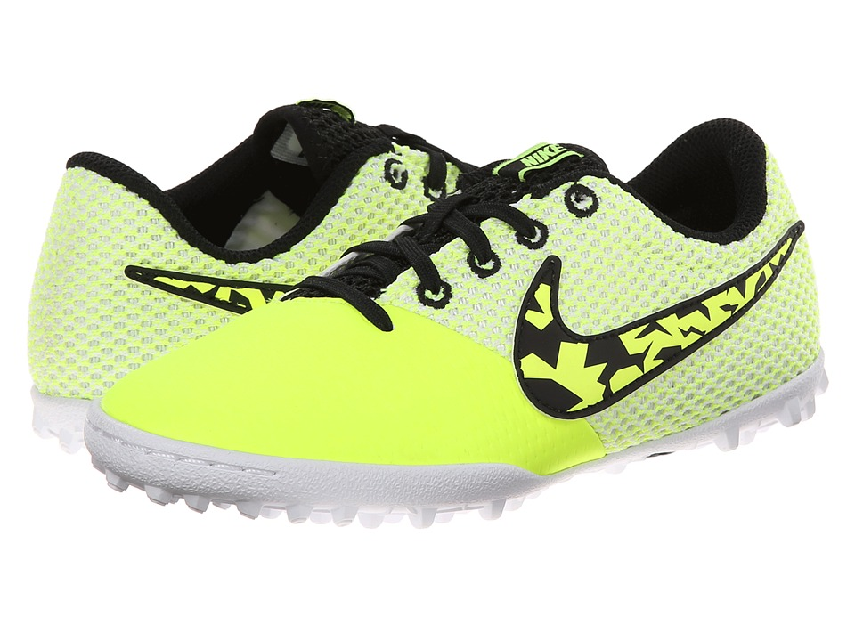Nike Kids - Elastico Pro III TF Jr Soccer (Toddler/Little Kid/Big Kid) (Volt/White/Black) Kids Shoes