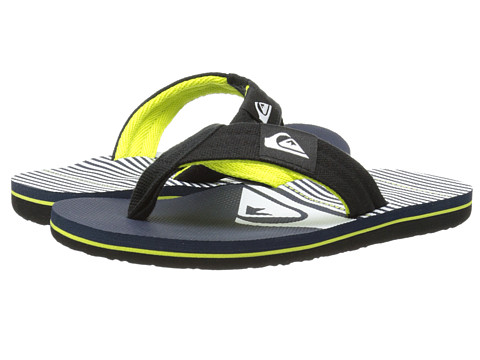 Quiksilver Kids - Molokai Layback (Toddler/Little Kid/Big Kid) (Black/Blue/White) Boys Shoes