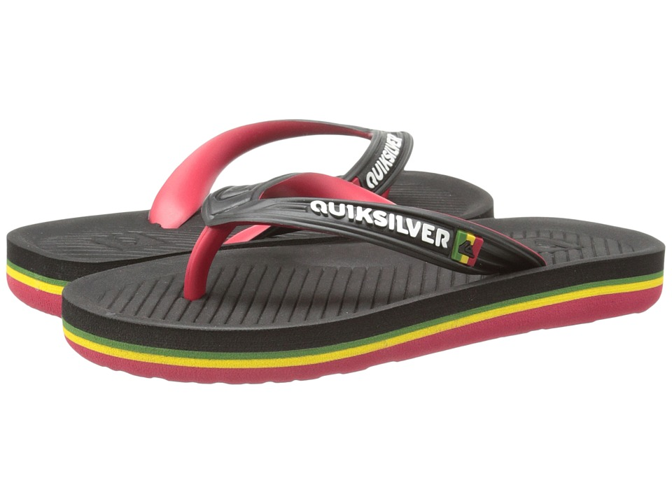 Quiksilver Kids - Haleiwa (Toddler/Little Kid/Big Kid) (Black/Red/Yellow) Boys Shoes