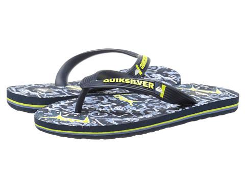 Quiksilver Kids - Molokai Art (Toddler/Little Kid/Big Kid) (Blue/Blue/Green) Boys Shoes
