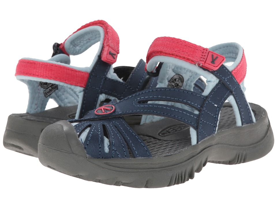 Keen Kids - Rose (Toddler/Little Kid) (Midnight Navy/Honey Suckle) Girls Shoes
