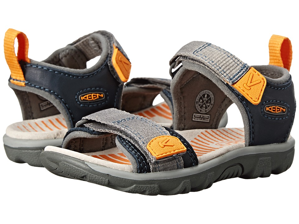 Keen Kids - Riley (Toddler/Little Kid) (Midnight Navy/Dark Cheddar) Boys Shoes