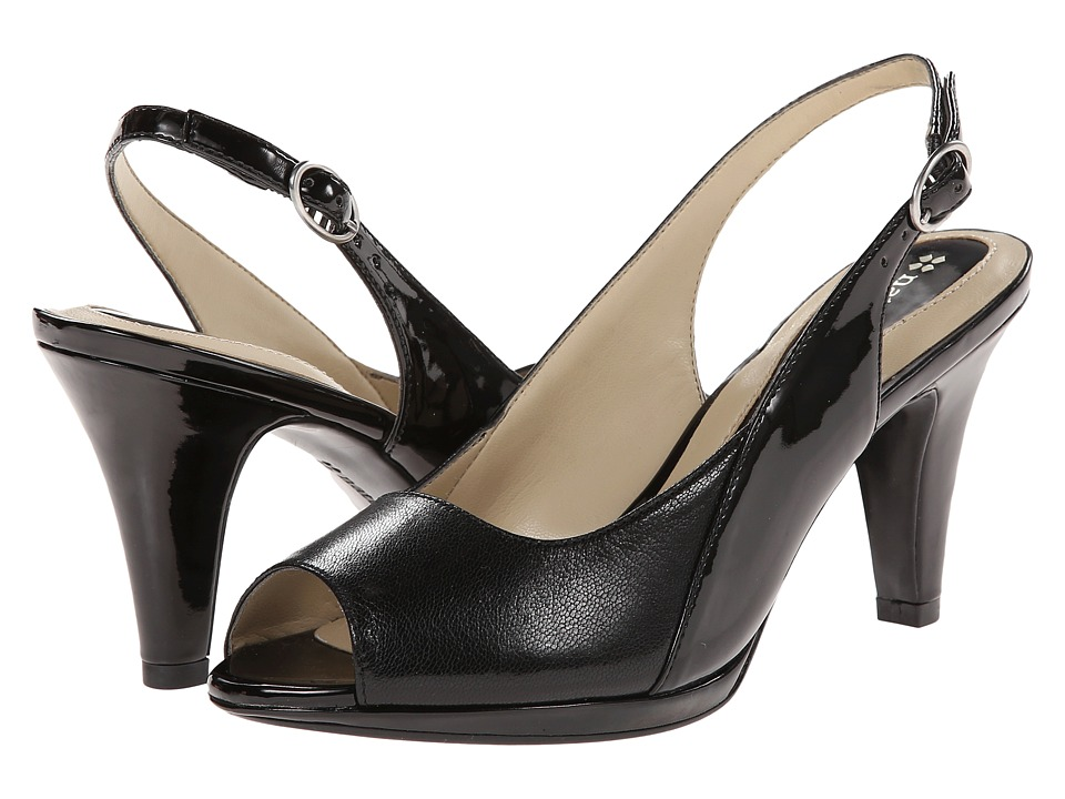 Naturalizer - Ivy (Black Leather/Shiny) Women's Sling Back Shoes
