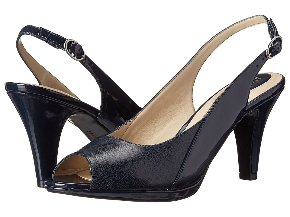 Naturalizer - Ivy (Navy) Women's Sling Back Shoes