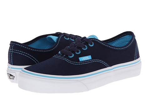 Vans Kids - Authentic (Little Kid/Big Kid) ((Clear Eyelets) Eclipse/River Blue) Girls Shoes