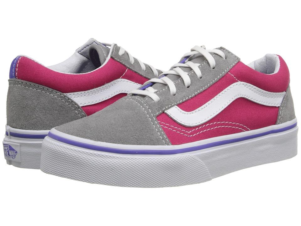 Vans Kids - Old Skool (Little Kid/Big Kid) ((Pop) Purple Iris/Rose Red) Girls Shoes