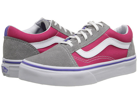 Vans Kids - Old Skool (Little Kid/Big Kid) ((Pop) Purple Iris/Rose Red) Girls Shoes