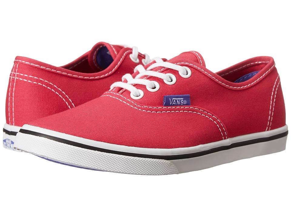 Vans Kids - Authentic Lo Pro (Little Kid/Big Kid) ((Pop) Rose Red/Purple Iris) Girls Shoes