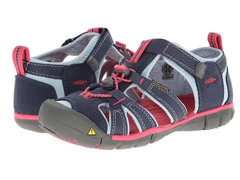 Keen Kids - Seacamp II (Little Kid/Big Kid) (Midnight Navy/Corydalis Blue) Girls Shoes