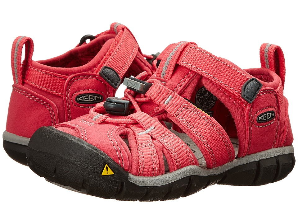 Keen Kids - Seacamp II (Toddler/Little Kid) (Honeysuckle/Neutral Gray) Girls Shoes
