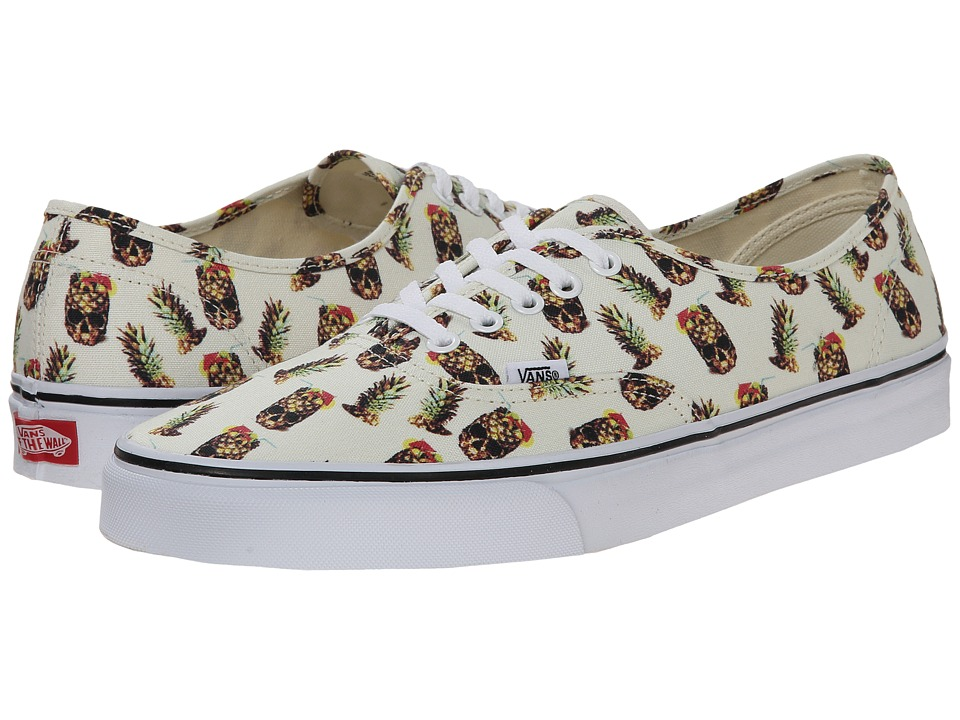 Vans - Authentic ((Drained and Confused) White) Skate Shoes