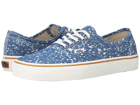 Vans - Authentic ((Denim Splatter) Blue) Skate Shoes