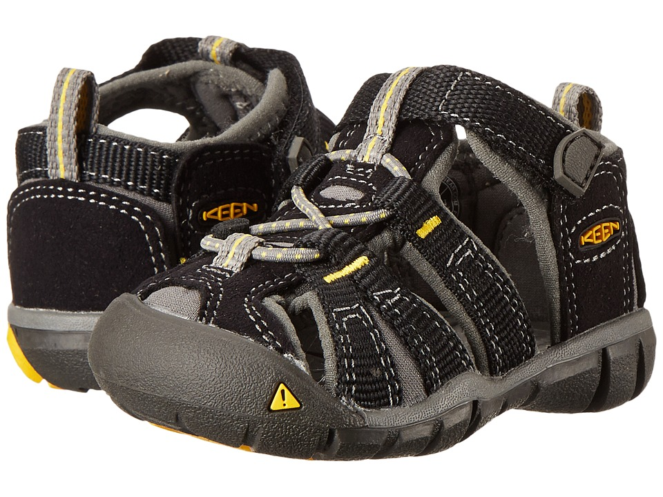 Keen Kids - Seacamp II (Toddler) (Black/Yellow) Boys Shoes